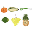 a fruits and vegetables set vector image