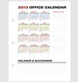 Accounting Calendar 2013 vector image