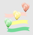 Colorful balloon with ribbon element vector image