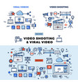 viral video and video shooting information page vector image