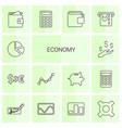 14 economy icons vector image vector image