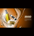 3d realistic cosmetic product spray bottle and vector image vector image