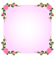 A light pink empty template with flowers vector image vector image