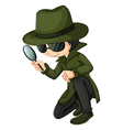 A smart young detective vector image vector image