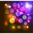 abstract background with shiny colored lights vector image vector image