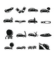 accident car crash case icons set simple style vector image