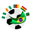 Africa Zone Qualification in A Brazil 2014 vector image vector image