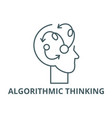 algorithmic thinking line icon vector image vector image