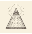 All seeing eye pyramid symbol New World Order vector image vector image