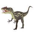 allosaurus on white background vector image vector image