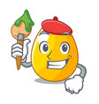 artist golden egg cartoon for greeting card vector image