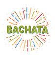 bachata logotype coloflul sunshine elements vector image