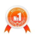 badge best choice vector image