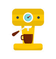 bar coffee machine icon flat style vector image vector image