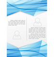 Blue booklet abstract design template vector image vector image