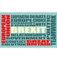 Britain exit from European Union Brexit vector image vector image