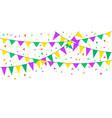carnival flags mardi gras vector image vector image