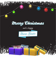 Christmas background with gift boxes and text vector image vector image
