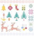 christmas winter pixels vector image