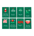 collection of 8 card templates for christmas and vector image vector image