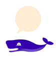 cute whale thinking vector image