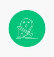 death frag game kill sword white line icon in vector image vector image