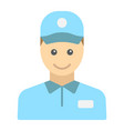 delivery man flat icon logistic and delivery vector image