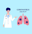 doctor and human lungs vector image