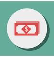 Dollar bills isolated icon design vector image