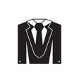 elegant suit icon vector image