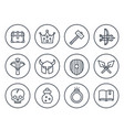game line icons on white set 2 vector image vector image