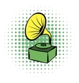 Gramophone comics icon vector image