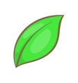 Green leaf icon cartoon style vector image vector image