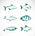 group fish vector image vector image