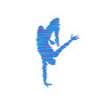 gymnast silhouette of a dancer sport symbol vector image