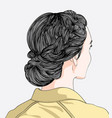 hairstyles for women in modern style vector image
