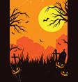 halloween vintage poster vector image vector image