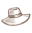 hat isolated sketch female headdress or accessory vector image