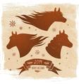 Horse symbol 2014 vector image