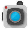 image camera icons vector image vector image