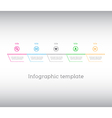 Infographic template simple timeline with icons vector image