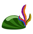 isolated carnival hat icon vector image