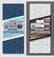 layouts for home appliances vector image vector image