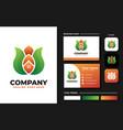 leaf with roof house logo design inspiration vector image