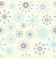 light yellow and baby blue snowflakes christmas vector image