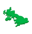 map united kingdom icon in isometric 3d style vector image vector image