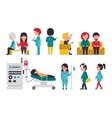 Medical Staff Flat Isolated On White Background vector image