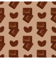 Milk chocolate seamless pattern vector image vector image