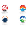mountain logo and symbols vector image