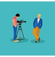 Movie shooting concept banners in flat vector image vector image